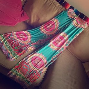 Amazing soft and flowy psychedelic palazzo pants